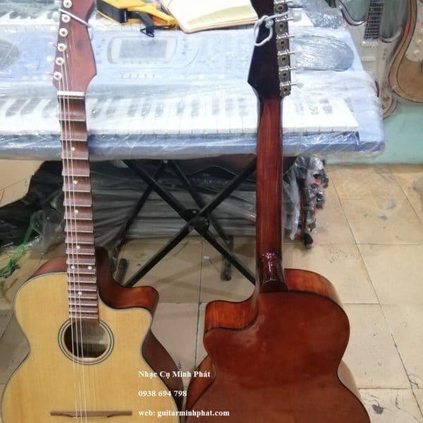 Mua đàn guitar thùng phím lõm giá rẻ mặt gỗ thông - nhạc cụ minh phát