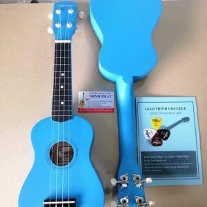 Đàn ukulele soprano màu xanh dương trơn giá rẻ tại Nhạc Cụ Minh Phát quận Bình Tân TP.HCM