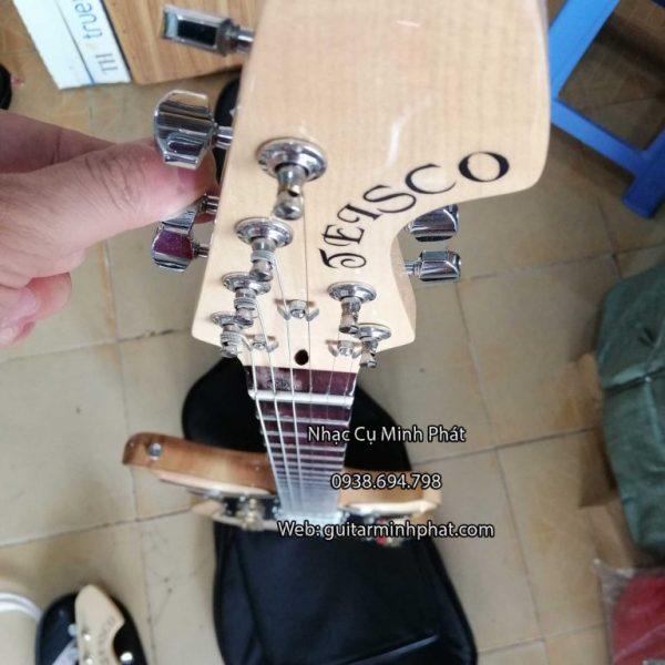 bán đàn guitar điện phím lõm tesco gỗ tự nhiện - nhạc cụ minh phát