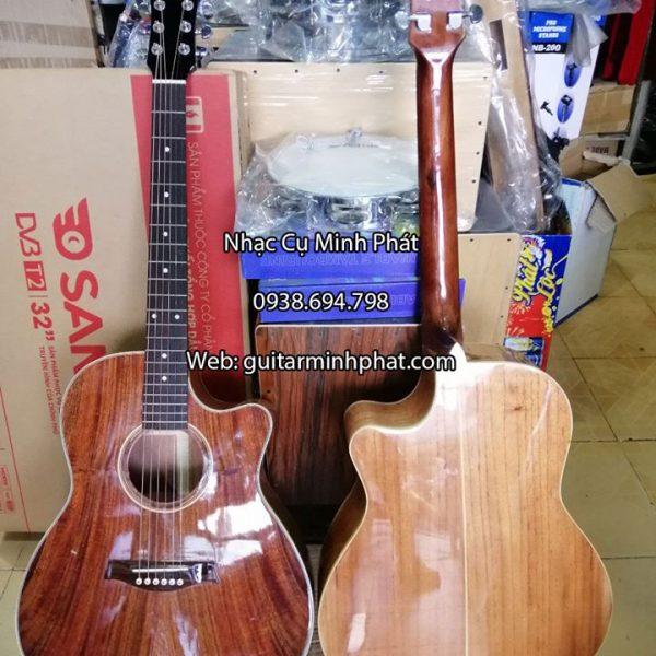Đàn guita full gỗ hồng đào cao cấp tại shop guitar tphcm
