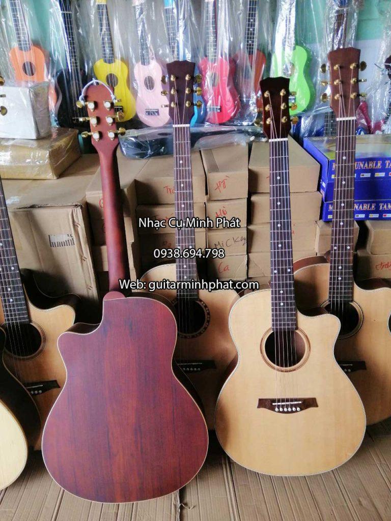 Guitar Acoustic Gỗ Hồng Đào - Có ty chỉnh cần 4