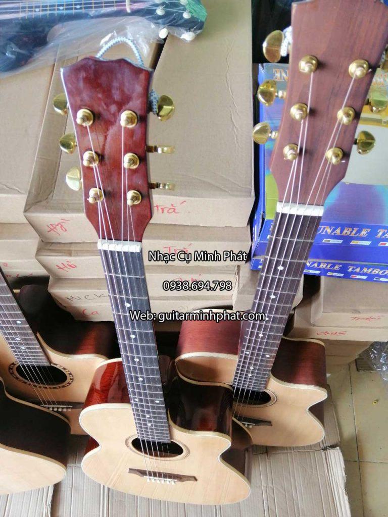 Guitar Acoustic Gỗ Hồng Đào - Có ty chỉnh cần 7