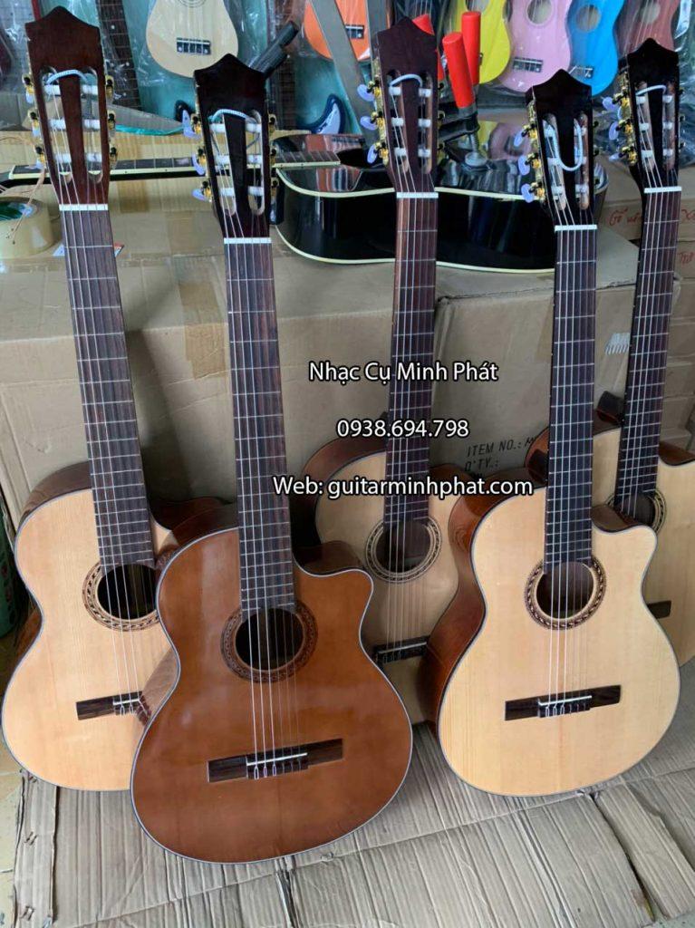 Đàn guitar classic gỗ hồng đào dáng khuyết 7