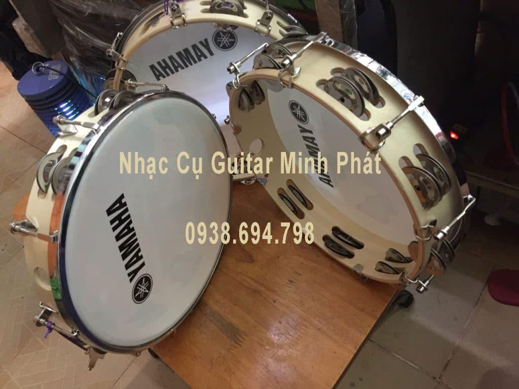 Mua trống lục lạc - trống lắc tay - trống tambourine ở quận Bình Tân 2